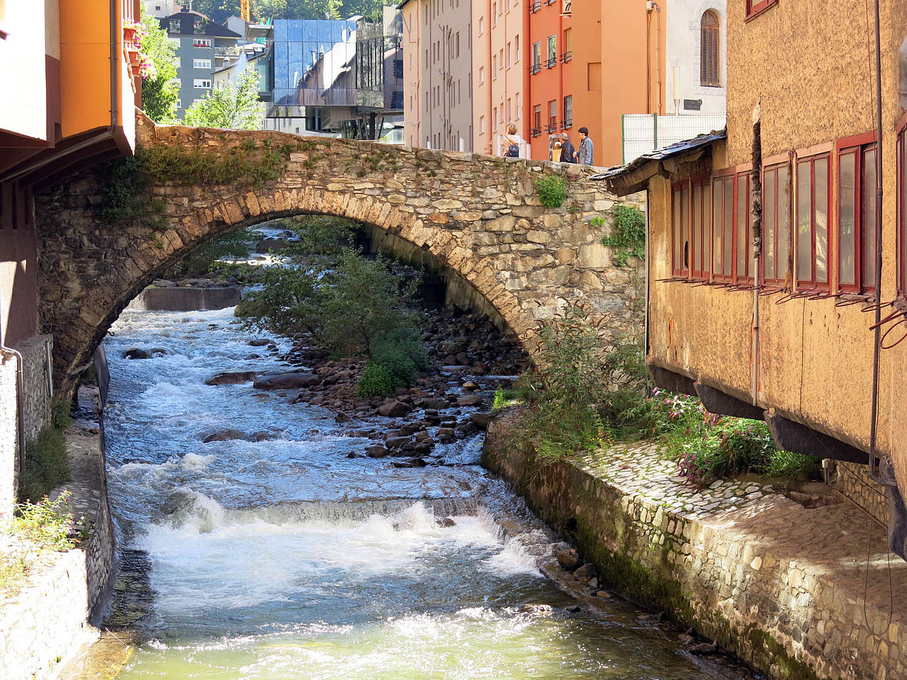 Pont d'Engordany, on the Valira