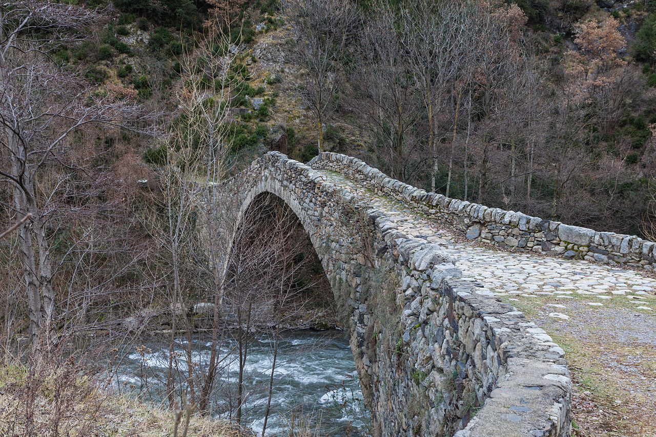 Bridge of the Margineda, Santa Coloma, Andorra